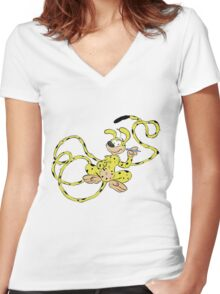 Marsupilami ! Women's Fitted V-Neck T-Shirt