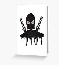 Black Ninja Greeting Card