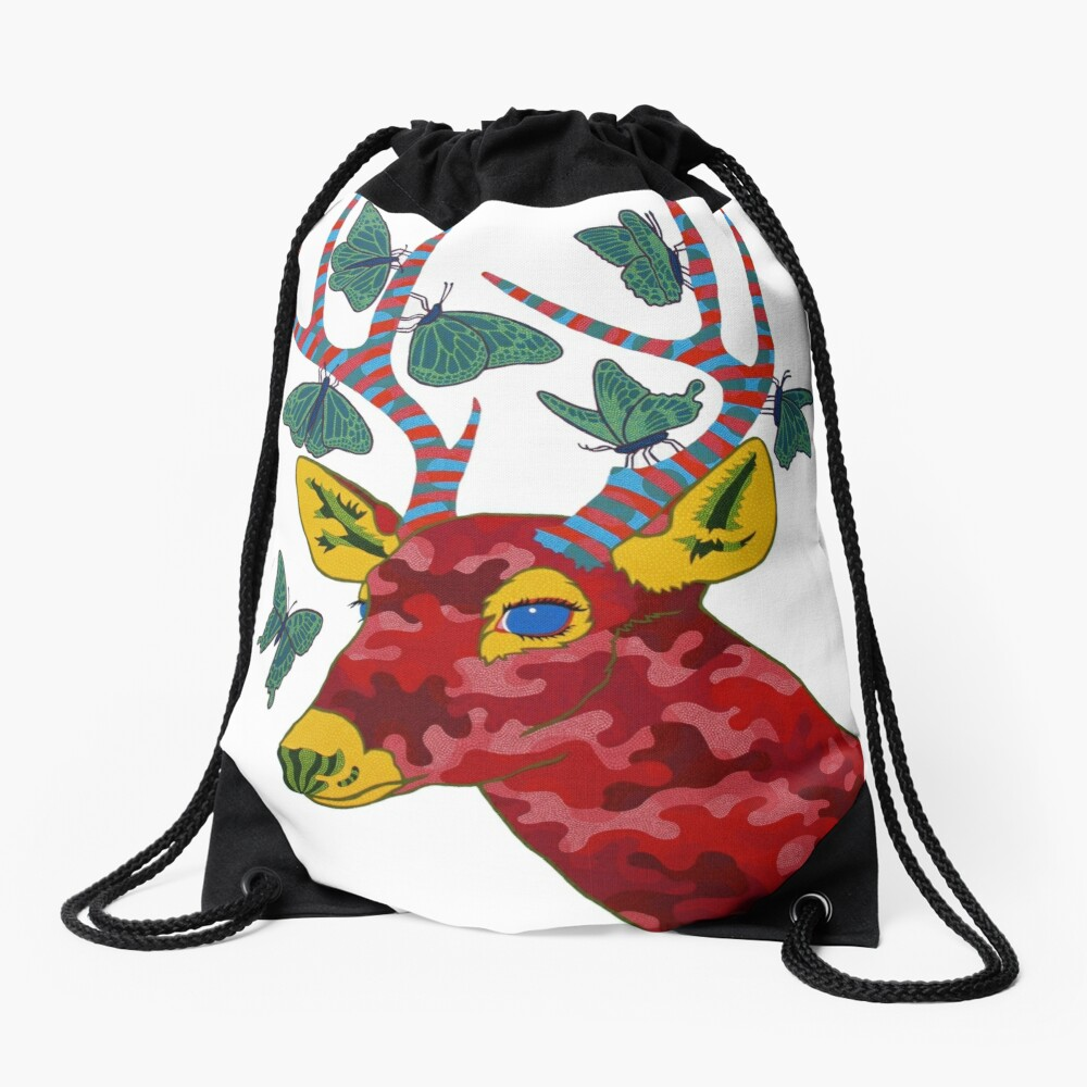That Which Likened to Itself is Drawn Drawstring Bag