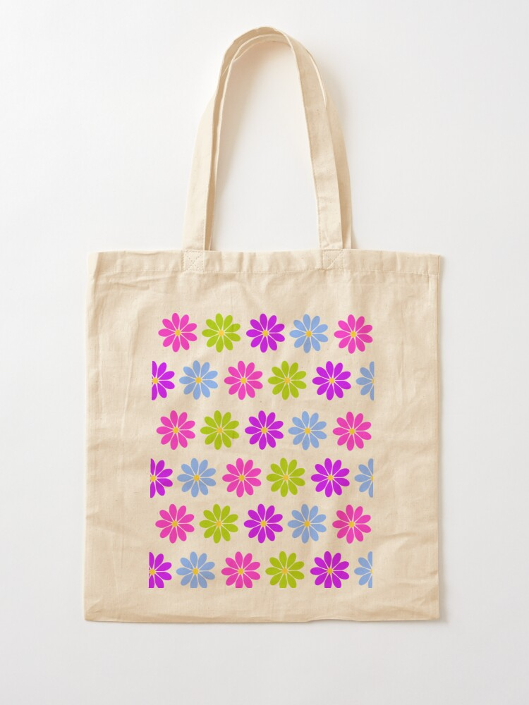 Alternate view of Colorful Flowers Tote Bag