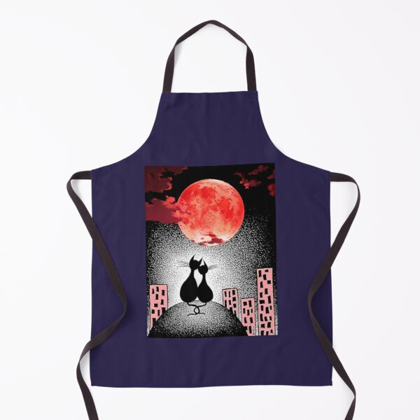 CATS UNDER THE MOON Apron