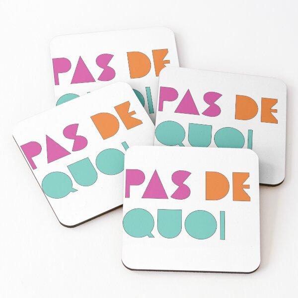 Pas De Quoi (You're Welcome) Coasters (Set of 4)