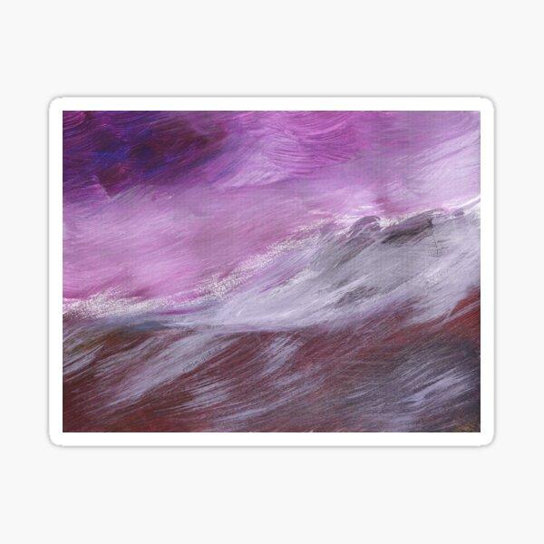 Purple Wave Sticker