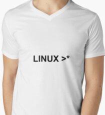 linux >* Men's V-Neck T-Shirt