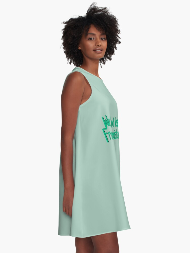 Alternate view of We Live and Learn - Pat Benatar Design A-Line Dress
