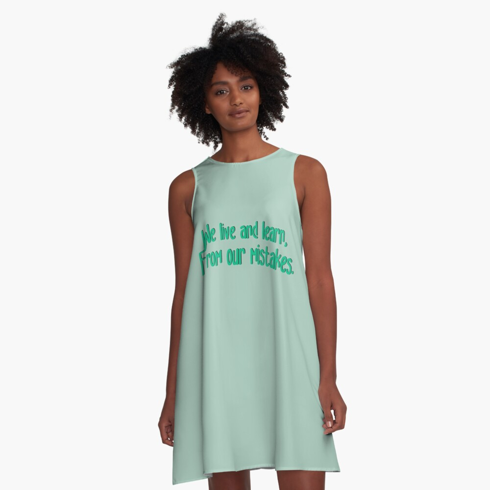 We Live and Learn - Pat Benatar Design A-Line Dress