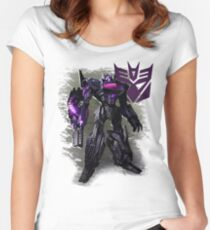 Transformers War For Cybertron - Decepticons: Shockwave Women's Fitted Scoop T-Shirt