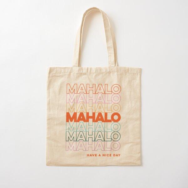 Hawaii Mahalo Bag Cotton Tote Bag