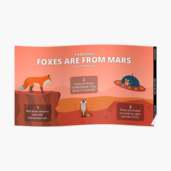 Foxes are From Mars Poster