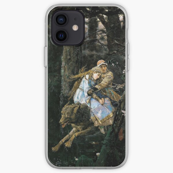Ivan Tsarevich Riding the Grey Wolf - Viktor Vasnetsov - 1889 iPhone Soft Case