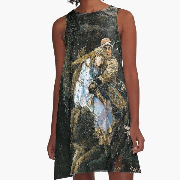 Ivan Tsarevich Riding the Grey Wolf - Viktor Vasnetsov - 1889 A-Line Dress