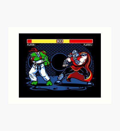 Sewer Fighter Art Print