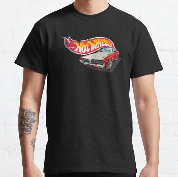 Authentic Vintage, Distressed Hot Wheels 1968 Custom Cougar Classic T-Shirt