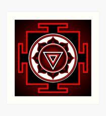 Indian symbol of Kali Yantra Art Print