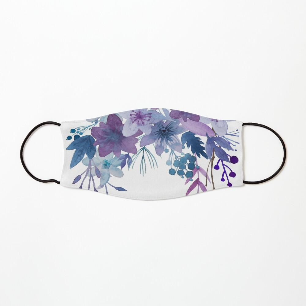 Blue Purple Flowers Mask
