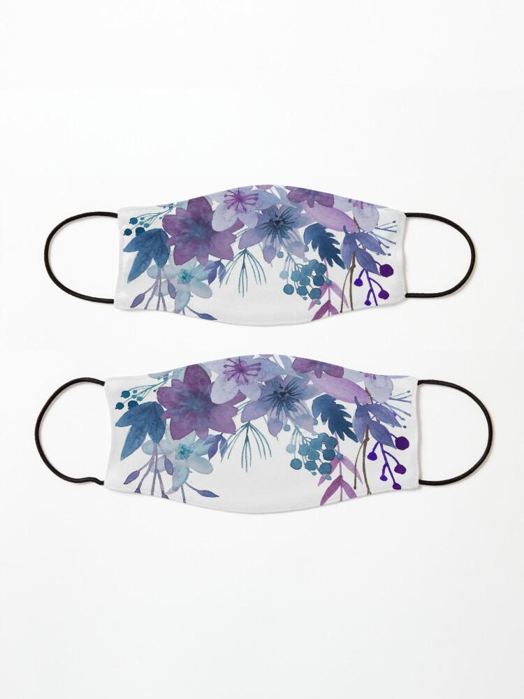 Alternate view of Blue Purple Flowers Mask