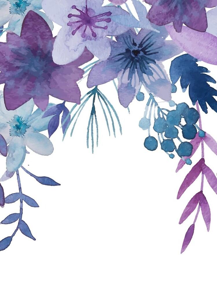 Blue Purple Flowers by junkydotcom