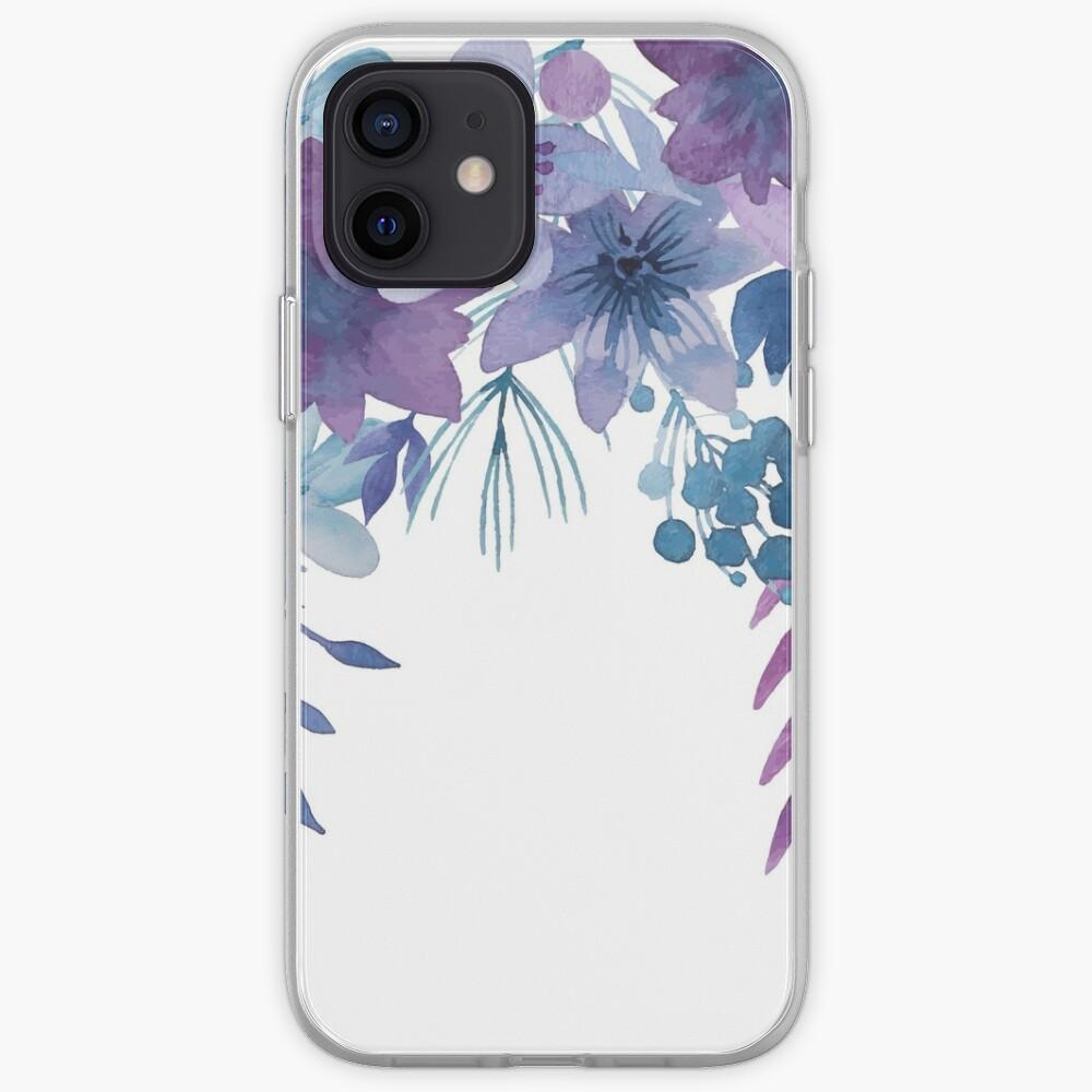 Blue Purple Flowers iPhone Case & Cover