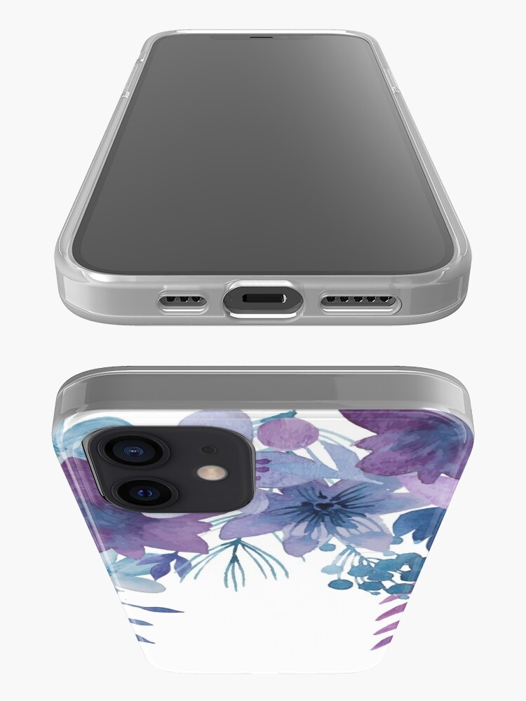 Alternate view of Blue Purple Flowers iPhone Case & Cover