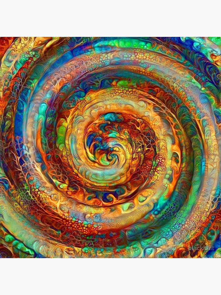 Abstractions of abstract abstraction of colorful spiral by blackhalt