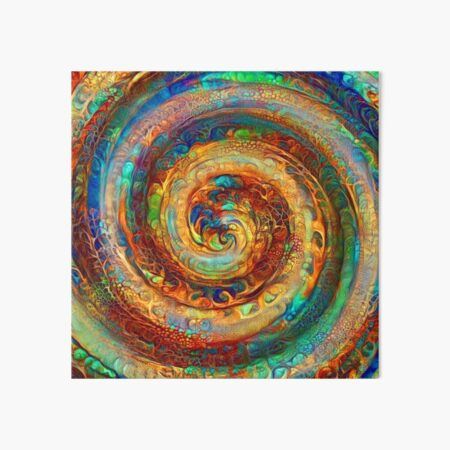Abstractions of abstract abstraction of colorful spiral Art Board Print