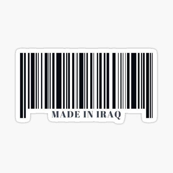 Made in Iraq Black Barcode Sticker