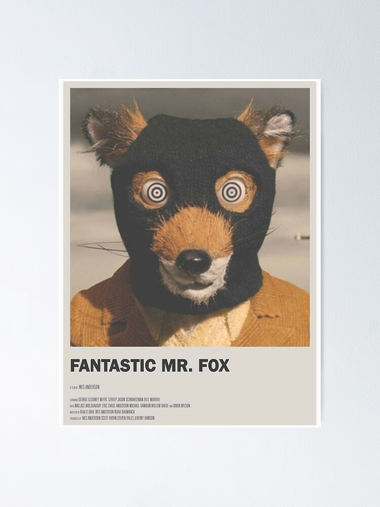 Mr Fox Poster By Saraabuch Redbubble