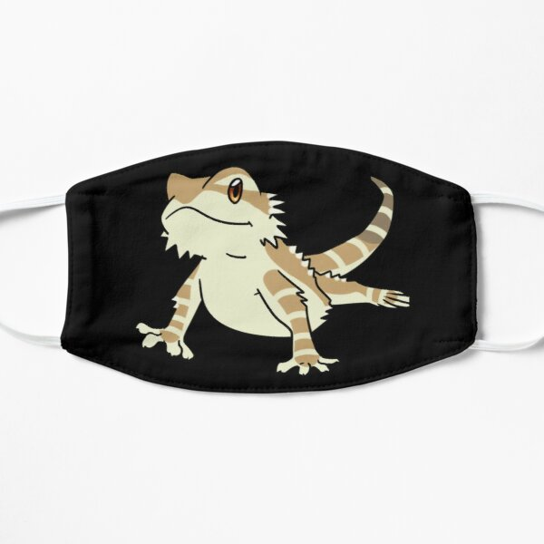 Cute Bearded Dragon Flat Mask