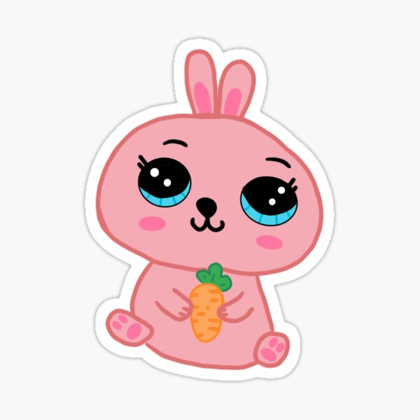 Regalos Y Productos Zanahoria Conejo De Animados Lindo Redbubble Simpático conejo con una enorme zanahoria para que imprimas y colorees con tus hijos. redbubble