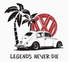 Legends Never Die - Retro BUG T-Shirt | Unisex T-Shirt