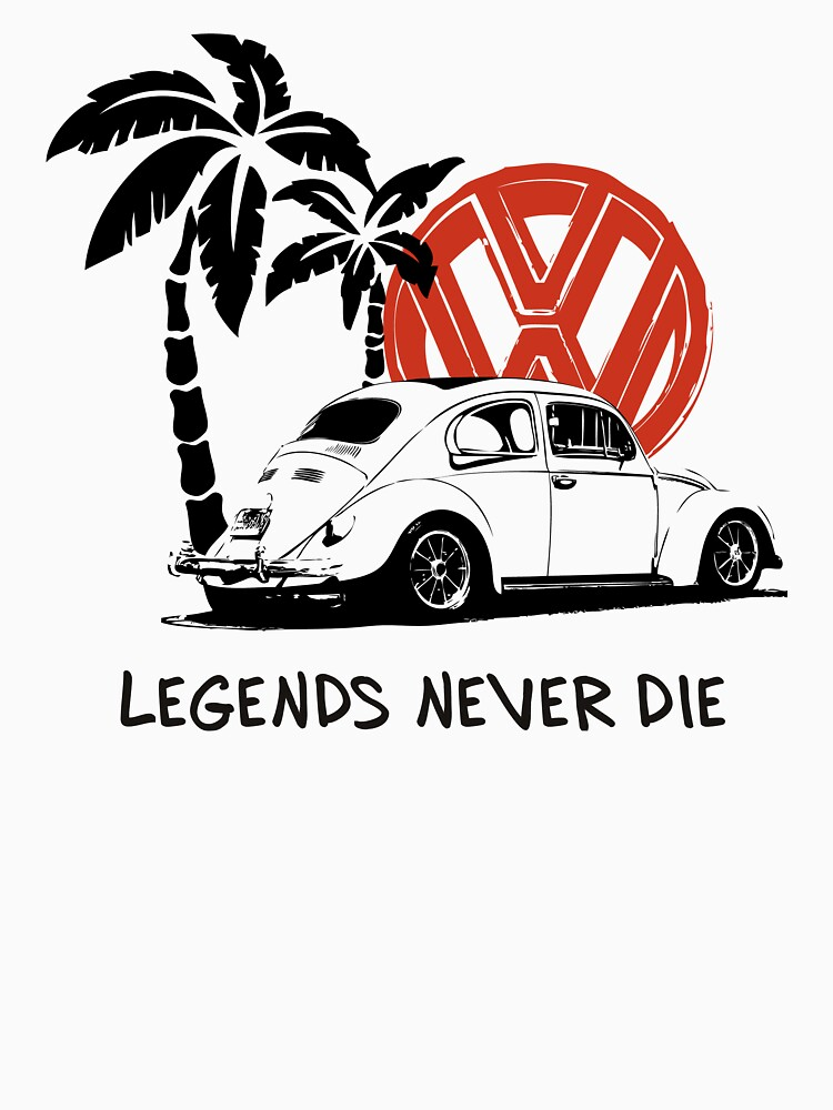 Legends Never Die - Retro BUG T-Shirt | Unisex T-Shirt