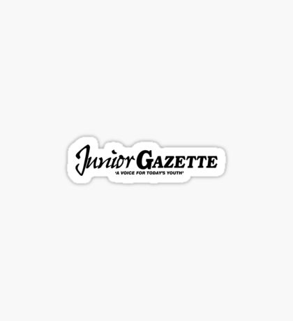 Junior Gazette (black logo) Sticker