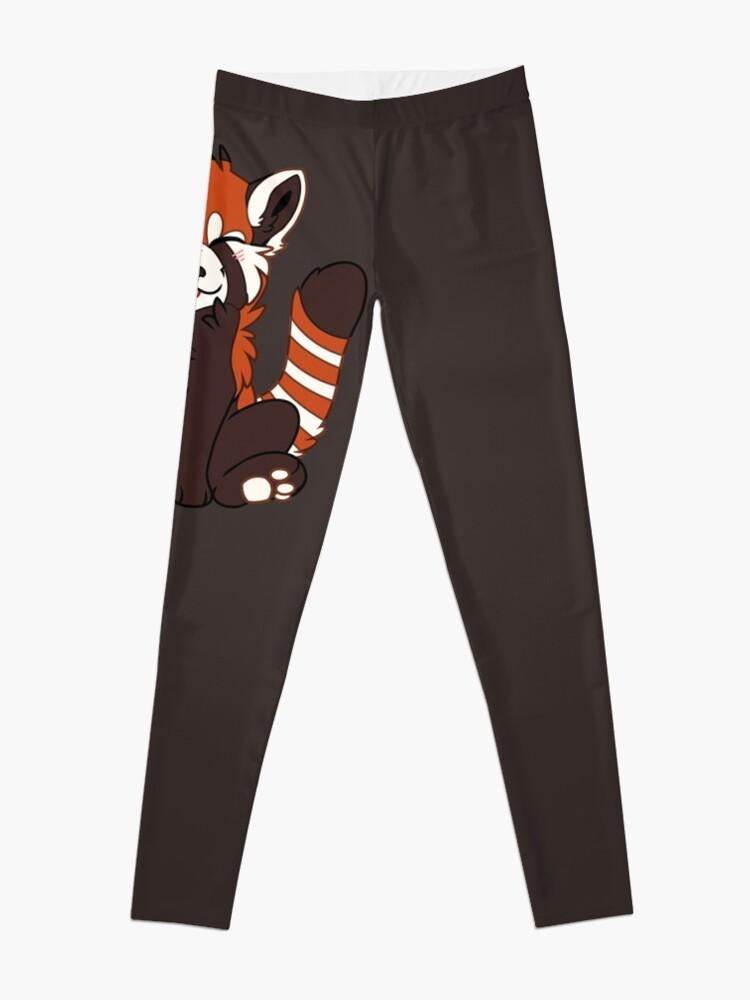 Alternate view of Cute Chibi Red Panda Leggings
