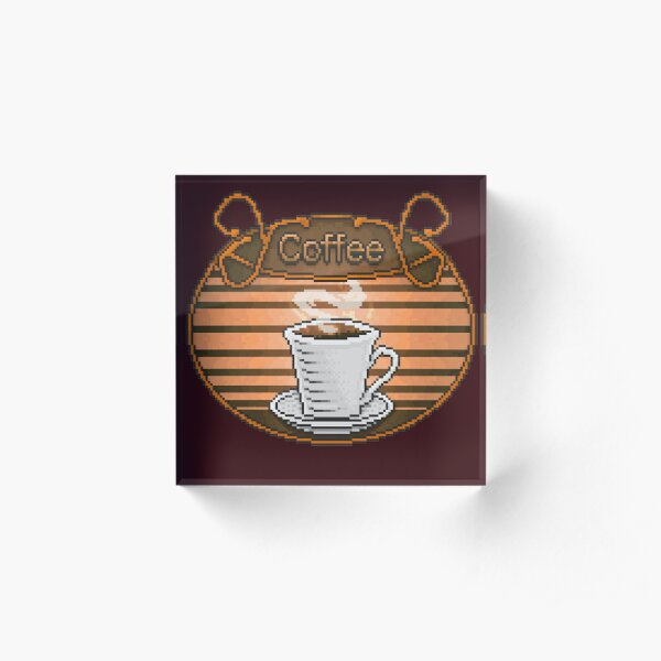 Comfy Coffee Sign Acrylic Block