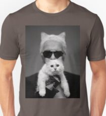 Karl Lagerfeld and Choupette Unisex T-Shirt