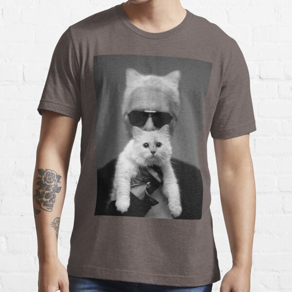 Karl Lagerfeld and Choupette Essential T-Shirt