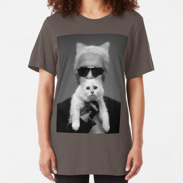 Karl Lagerfeld and Choupette Slim Fit T-Shirt
