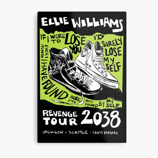 Ellie's Revenge Tour - Mock Band Poster Metal Print