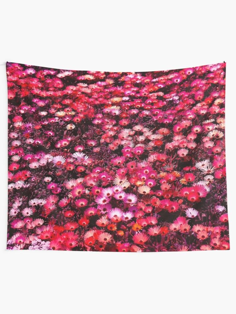Alternate view of Spring Garden Field of Blooms Floral Print Tapestry