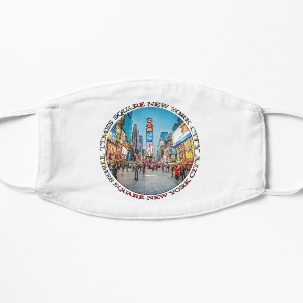 Times Square Sparkle (badge on white) Mask