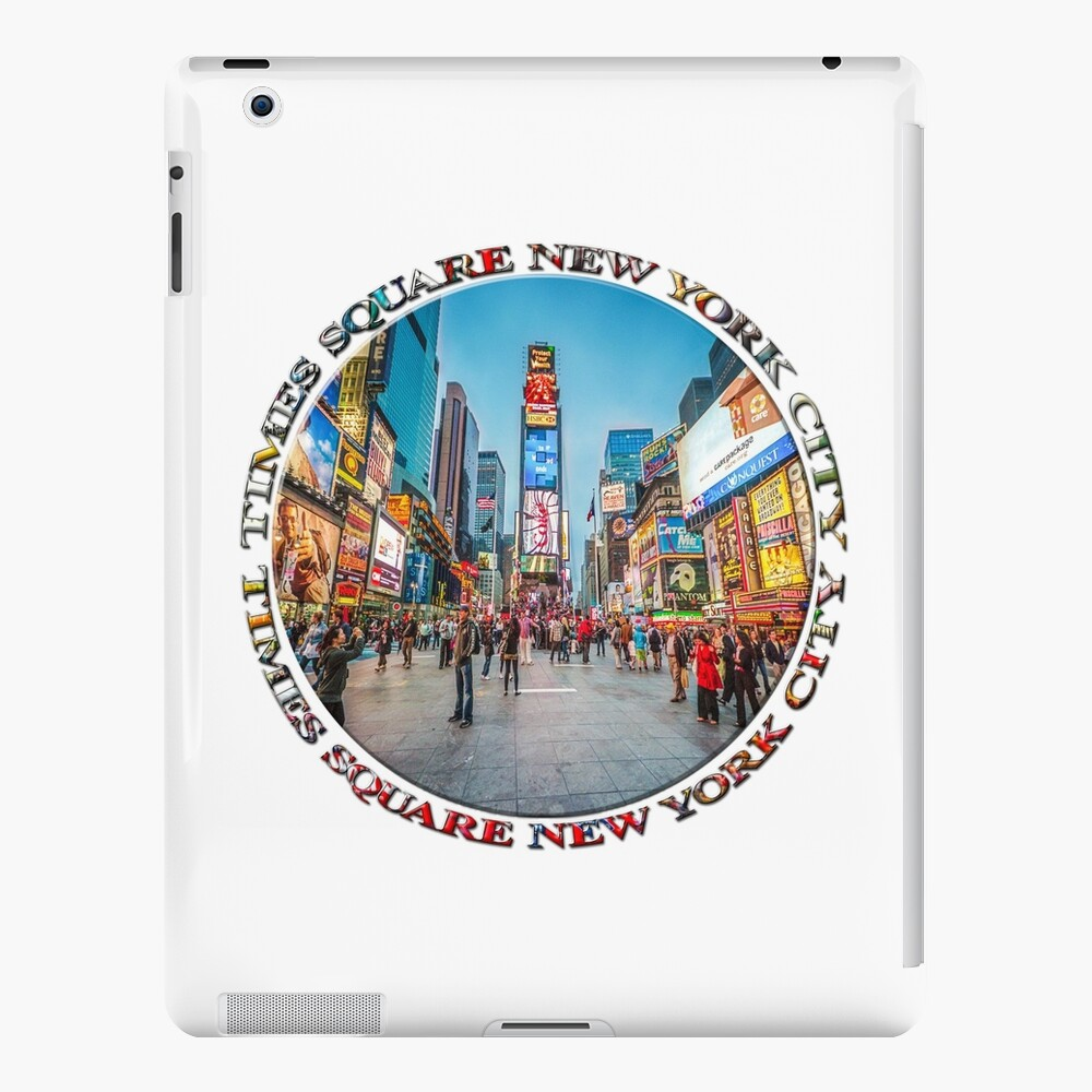 Times Square Sparkle (badge on white) iPad Case & Skin