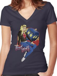 The Bad Wolf Women's Fitted V-Neck T-Shirt