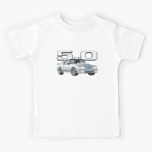 Mustang GT 5.0L V8 Fox Body EE. UU. Camiseta para niños