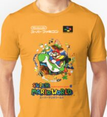 Super Mario World Nintendo Super Famicom Box Art T-Shirt