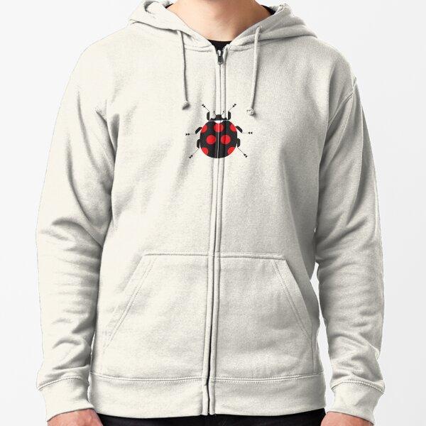 Nature: Ladybug Rose Zipped Hoodie