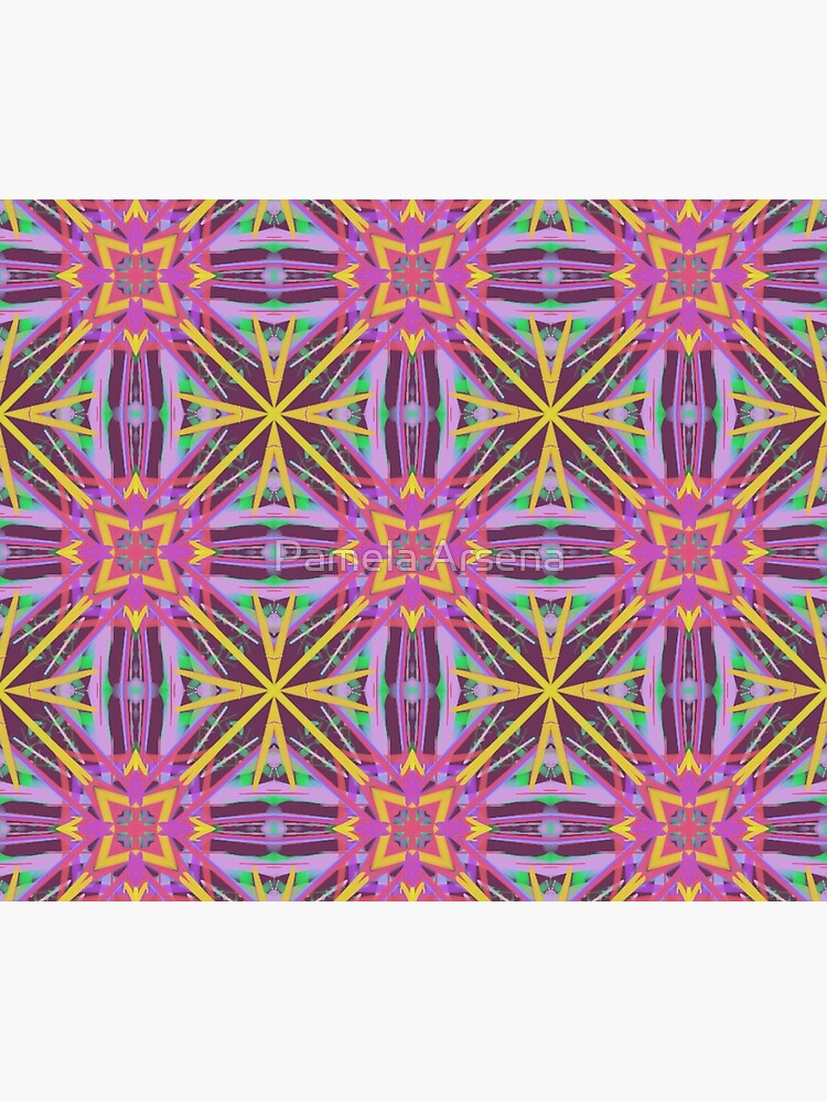 Psychedelic Geometric Fabric Print by xpressio