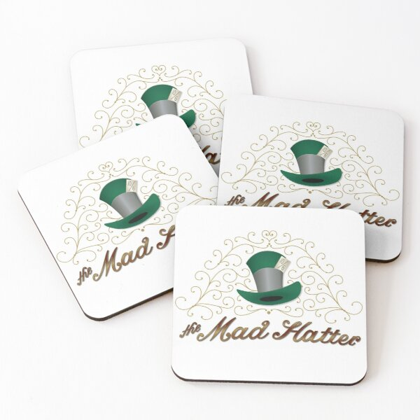 The Mad Hatter Coasters (Set of 4)