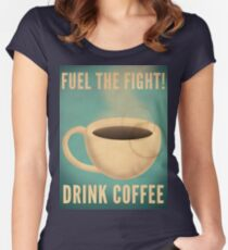 Fuel the Fight! Women's Fitted Scoop T-Shirt