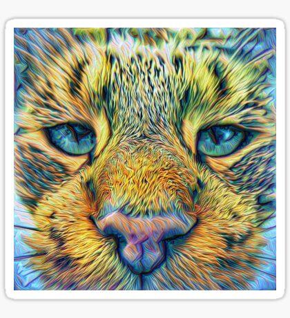 #DeepDreamed Cat v1449127170 Sticker