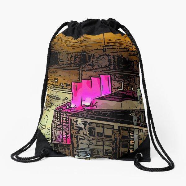Smoke Stack  Drawstring Bag